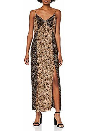 warehouse Women's Mixed Animal Print Maxi Dress, (Tan 11)