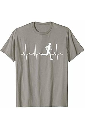 Running Shirts TShirts & Gifts for Men Who Run Running Shirt for Men - Runners Heartbeat Gift T-Shirt T-Shirt