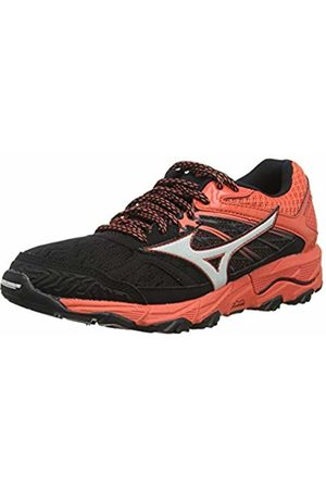 Mizuno Women's Wave Mujin 5 Trail Running Shoes, ( /Glacier Gray/Hot Coral 31)