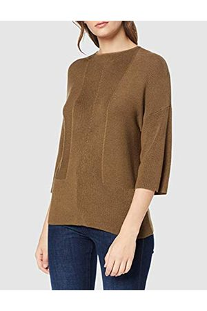 warehouse Women's Ribbed Panel 3/4 Sleeve Jumper
