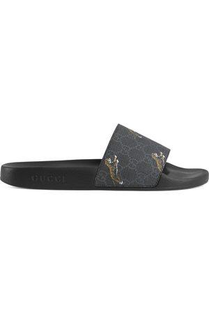 Gucci Men Sandals - Men's GG Supreme tigers slide sandal