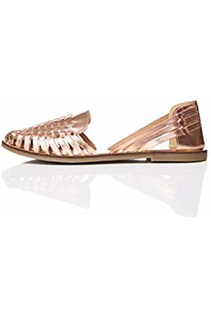 FIND Leather Hurrache Closed-Toe Sandals)