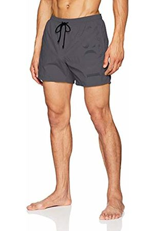 HUGO BOSS Men's Octopus Swim Trunks, (Dark 022)