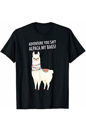 Funny Alpaca Designs Adventure I'll Alpaca My Bags Funny Travel T-Shirt