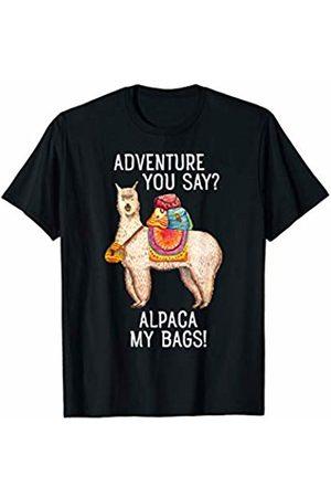 Funny Alpaca Designs Adventure I'll Alpaca My Bags Funny Travel Design T-Shirt