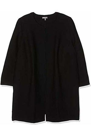 Ulla Popken Women's Plus Size Horizontal Rib Texture Long Jacket 28/30 717608 10-54+