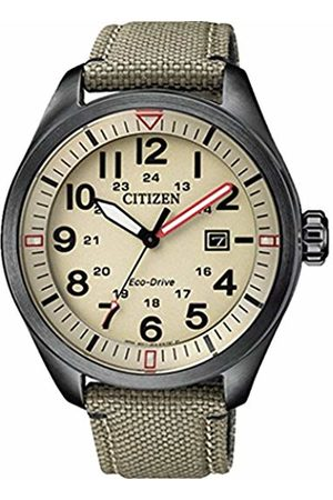 Citizen Men Watches - Mens Analogue Quartz Watch with Fabric Strap AW5005-12X