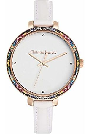 Christian Lacroix Womens Analogue Quartz Watch with Leather Strap CLWE58