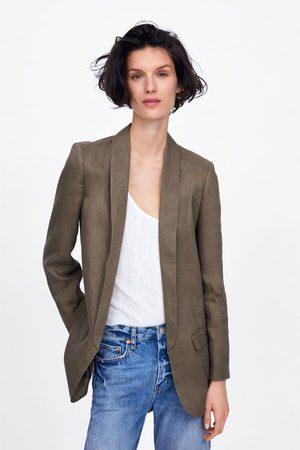 separation shoes b14f5 86ffb Zara Linen blazer with pockets
