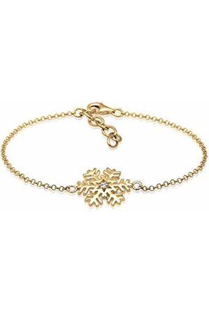 Elli Women's 925 Sterling Silver Xilion Cut Swarovski Crystal Bracelet of Length 16 cm