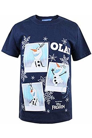 Disney Girl's Frozen Olaf Photoshoot T-Shirt, Navy