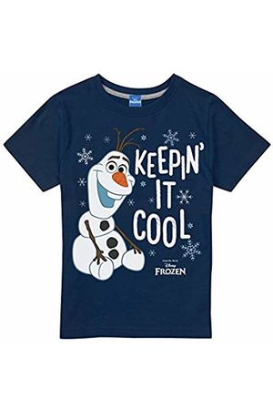 Disney Girl's Frozen Keepin IT Cool T-Shirt, Navy