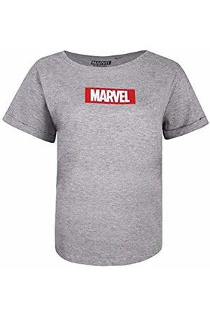 Marvel Women's Box Logo T-Shirt, (Sport SPO)