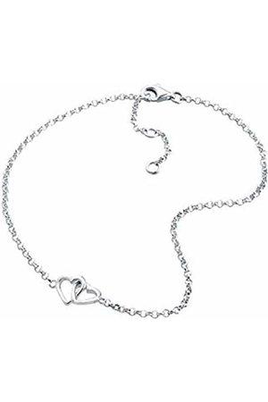 Elli Women Genuine Jewellery Foot Jewelery Anklets Heart Eternal Love Friendship Love Proof 925 Sterling Länge 25 cm