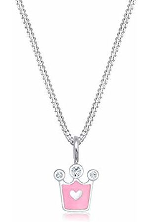 Elli Children's 925 Sterling Girls Heart Pendant with Necklace of Length 36 cm