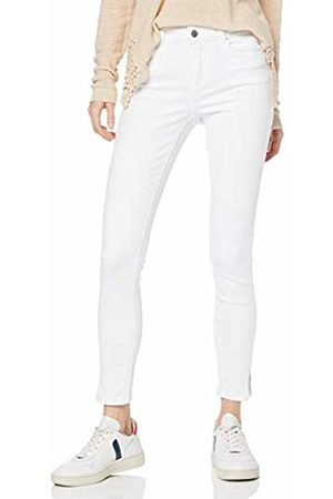 Pieces NOS Women's PCDELLY MW Crop Slit B300 BWH/NOOS Skinny Jeans, Bright