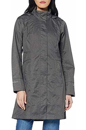 Eddie Bauer Women's Girl On The Go Trenchcoat - Wasserdichte Winddichte Atmungsaktive Regenjacke Mit Brusttasche Innen Raincoat (Dunkle Kohle Meliert 683) Medium