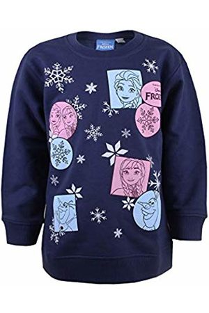 Disney Girl's Frozen Multi Sweatshirt, Navy