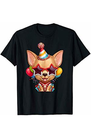 Chihuahuas Love Decorations Fawn Smooth Coat Chihuahua in Glasses Birthday T-Shirt
