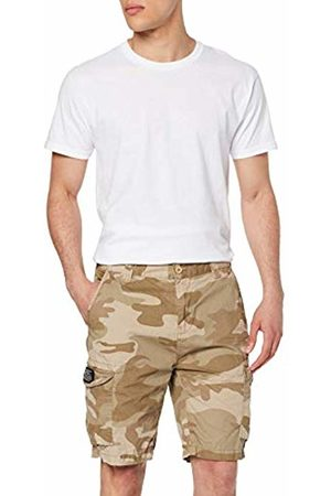 Schott NYC Men's Trolimpo30 Swim Shorts, (Camo Camo )