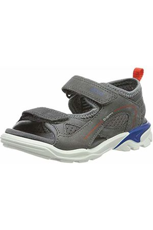 Ecco Unisex Kids' Biom Raft Open Toe Sandals, (Titanium/Dark Shadow 57486)