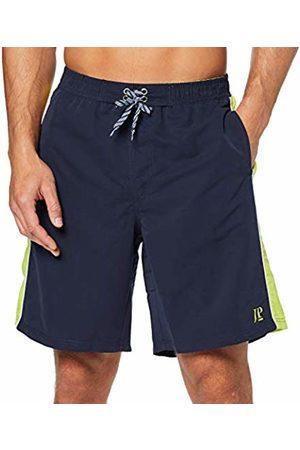 JP 1880 Men's Badeshort Seitl Streifen 3/4, Große Größen Swim Shirt
