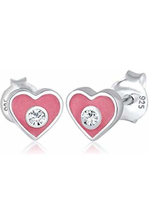 Elli Children's 925 Sterling Heart Earrings
