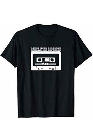 Signs & Fiction T Shirt Funny T-Shirt Generation Tapedeck Music Novelty Fun Retro Vintage