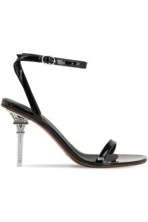 Vetements 100mm Eiffel Tower Patent Leather Sandal