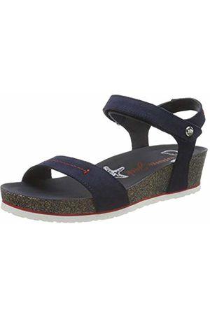 Panama Jack Women's Capri Navy Ankle Strap Sandals 4 UK
