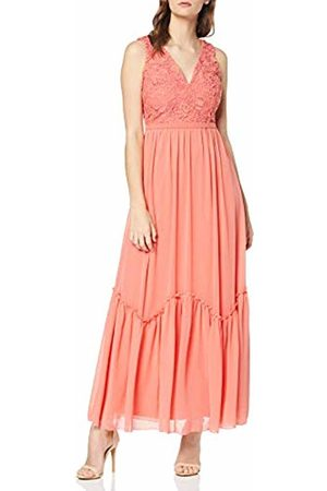 Little Mistress Women's Casey Grapefruit Crochet Maxi Dress Party, 001