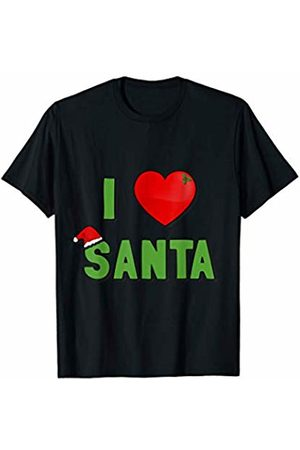 Flippin Sweet Gear I Love Santa - Christmas X-Mas Santa Clause T-Shirt