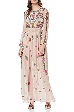 Frock and Frill Women's Francisca Embellished Long Sleeve Maxi Party Dress