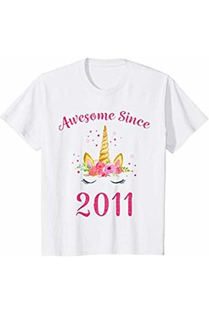 711b3d3a8 Youth 8th Birthday Girl Unicorn Shirt Awesome Since 2011 Gift T-Shirt