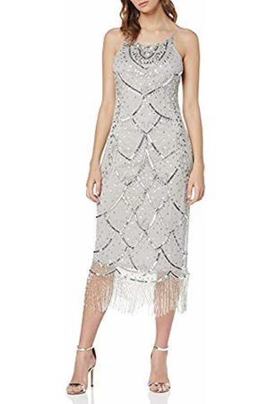 Frock and Frill Women's Gaia Embellished Fringed Dress Party (Microchip #D3d3d3)