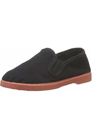 victoria Unisex Kids' Gong Fu Lona Trainers, (Negro 10)