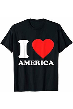 Flippin Sweet Gear I Love America - Independence 4th July USA T-Shirt