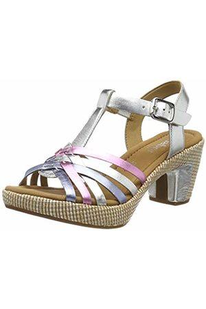 Gabor Shoes Women's Comfort Sport Ankle Strap Sandals (Silber K. (Ba.St) 90) 6.5 UK (40 EU)