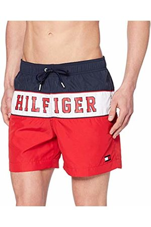 Tommy Hilfiger Men's Medium Drawstring Shorts, (Tango 611)
