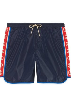 Gucci Nylon swim shorts with logo stripe