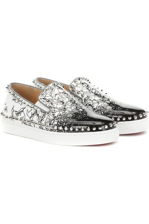 Christian Louboutin Exclusive to Mytheresa – Pik Boat Woman leather sneakers