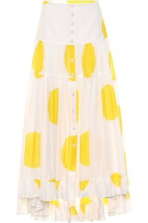 ALEXANDRA MIRO Penelope dotted cotton maxi skirt