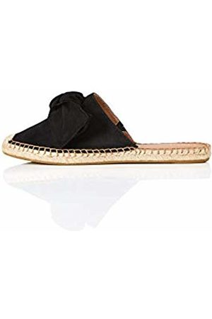 FIND Bow Mule Leather Espadrille Closed Toe Sandals