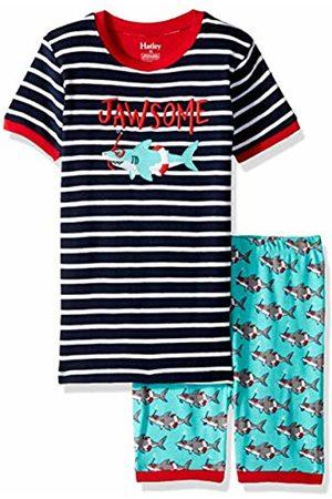 Hatley Boy's Organic Cotton Short Sleeve Printed Pyjama Sets, Jawsome-Snorkeling Sharks