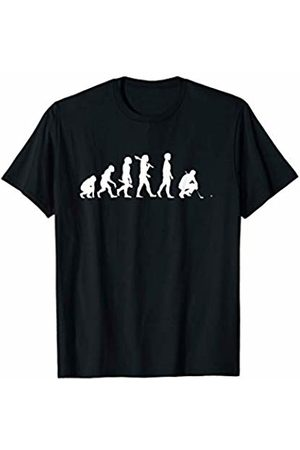 Funny Golf Fan Shirts By JF Funny Evolution Of A Golf Player - Get The Ball In The Hole T-Shirt
