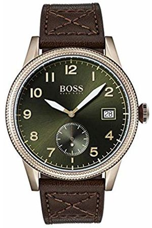 HUGO BOSS Mens Analogue Classic Quartz Watch with Leather Strap 1513669