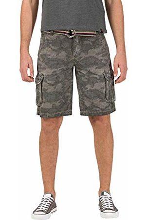 Timezone Men's Loose Maguiretz Cargo Shorts Incl. Belt ( Camou 8033)