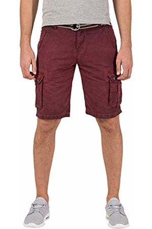 Timezone Men's Loose Maguiretz Cargo Shorts Incl. Belt Washed Wine 5058