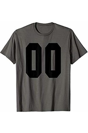 Rec League Team Sports Number T-Shirts # 00 Team Sports Jersey Front & Back Number Player Fan T-Shirt