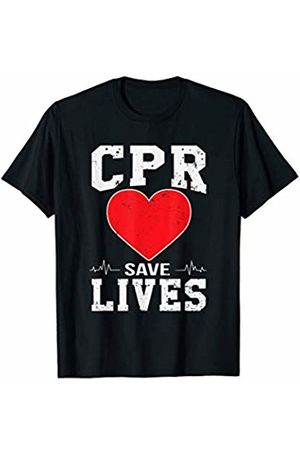 EMS Week Apparel Paramedic Gift CPR Saves Lives EMT Skills Training T-Shirt